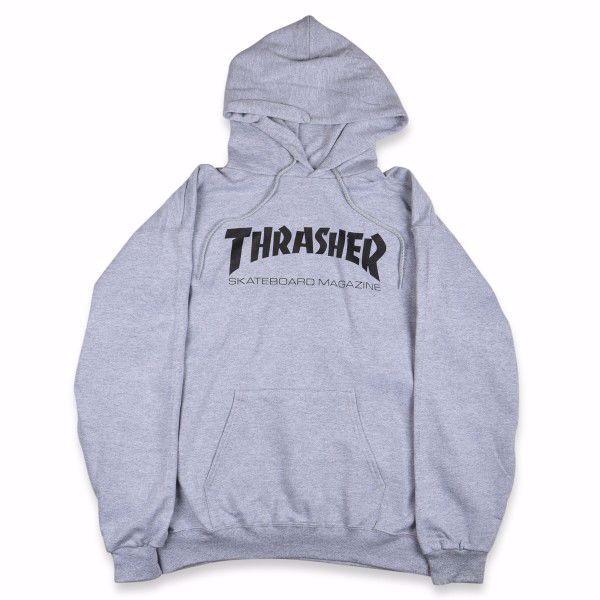 Skate Mag Hood - Thrasher - Grey