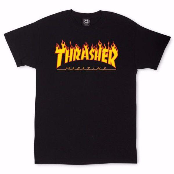 Flame T-Shirt - Thrasher - Black