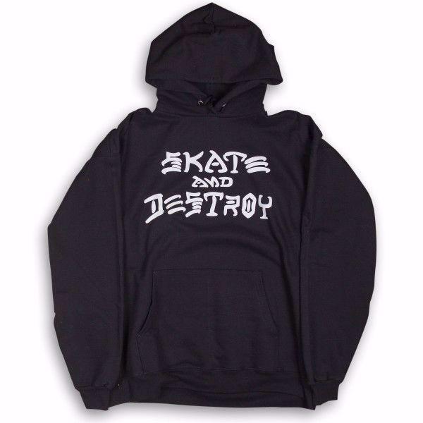 Skate And Destroy Hood - Thrasher - Black