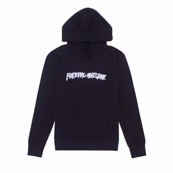 Dyed Chenille Logo Hoodie - Fucking Awesome - Anth