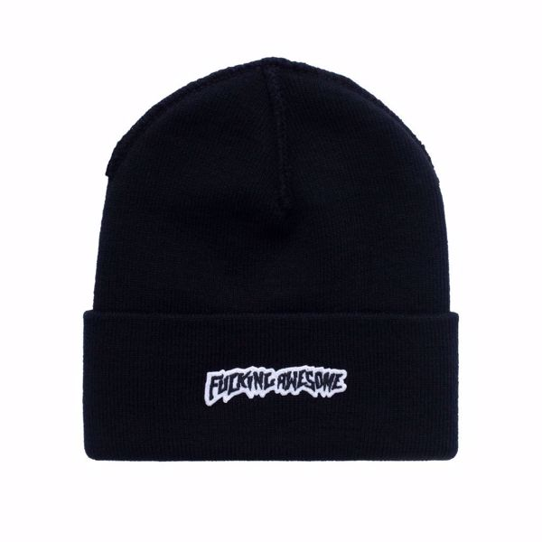 Little Stamp Cuff Beanie - Fucking Awesome - Black