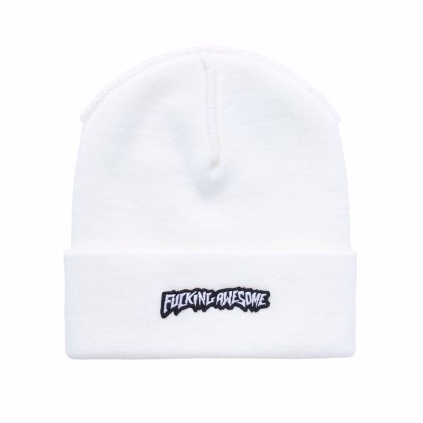 Little Stamp Cuff Beanie - Fucking Awesome - Ivory